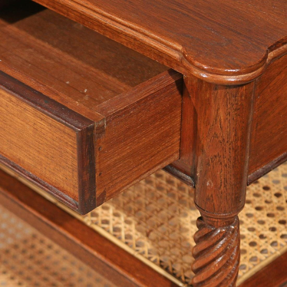 PAIR REGENCY-STYLE MAHOGANY END TABLES - 4