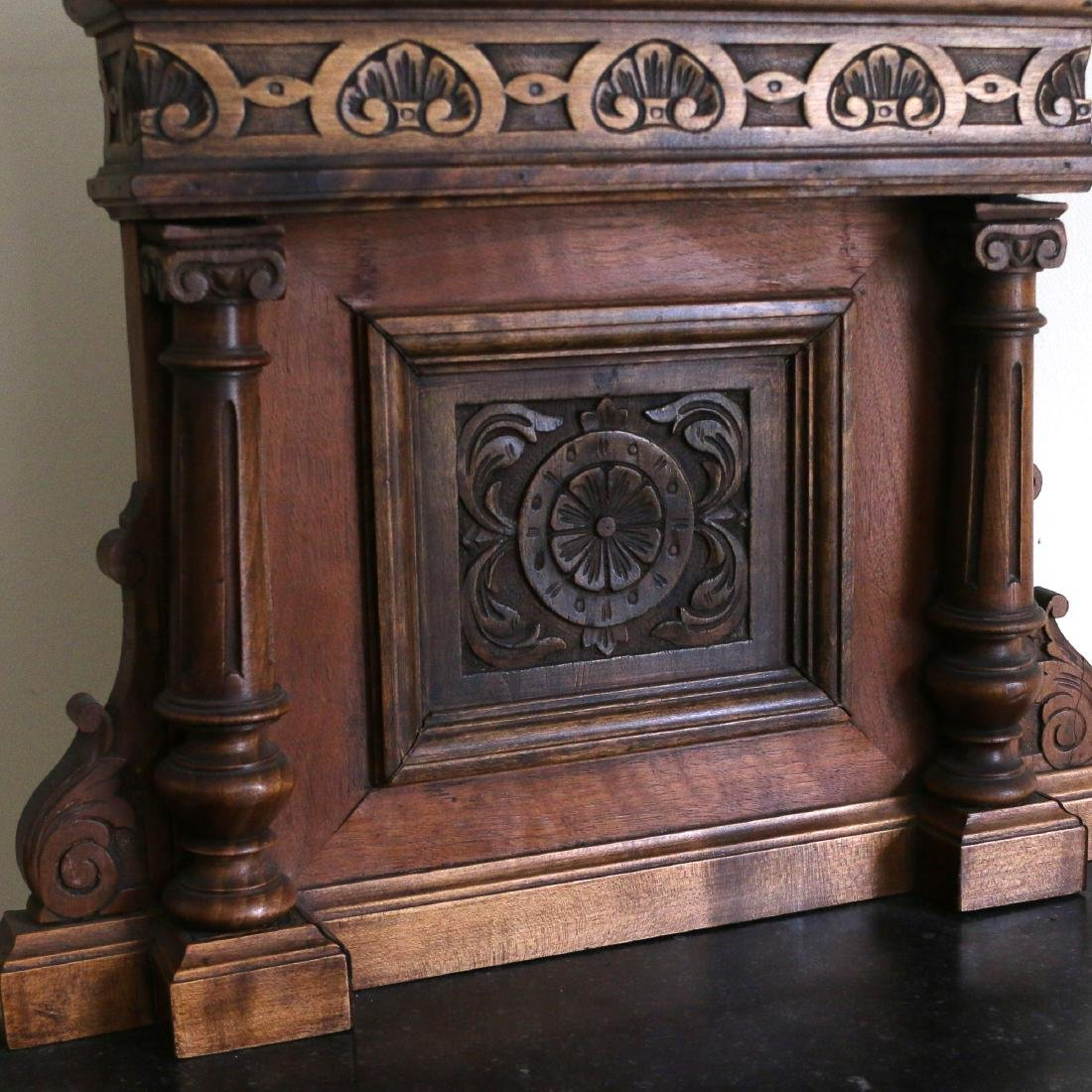 AESTHETIC PERIOD CARVED BEDSIDE TABLE - 2
