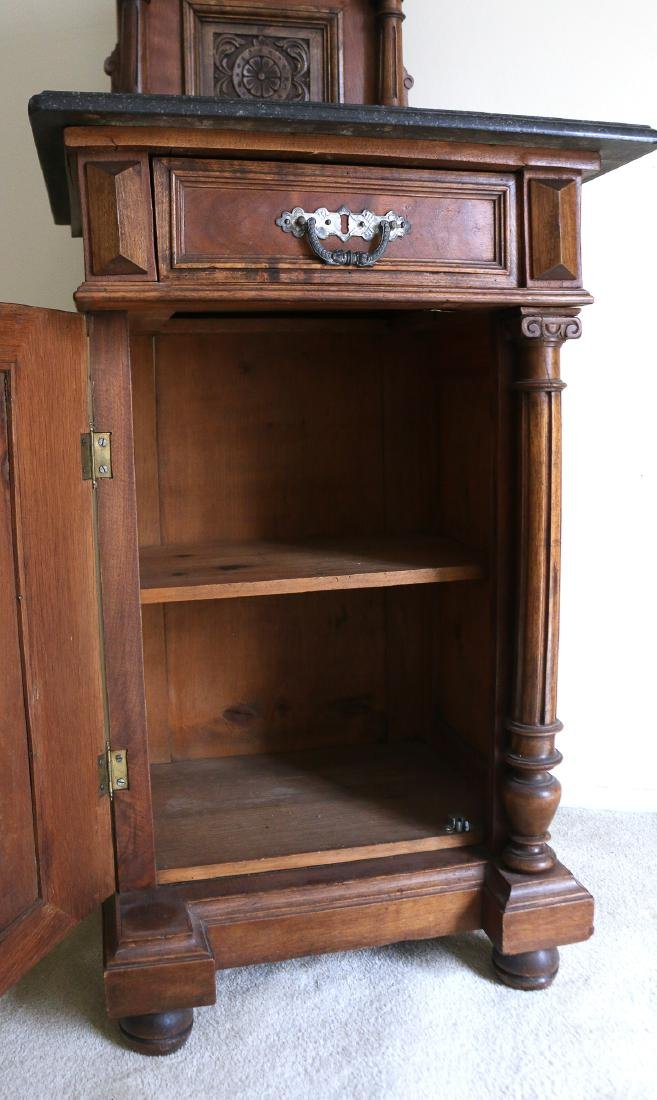 AESTHETIC PERIOD CARVED BEDSIDE TABLE - 4