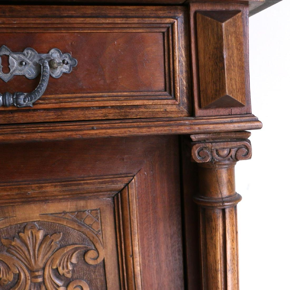 AESTHETIC PERIOD CARVED BEDSIDE TABLE - 5