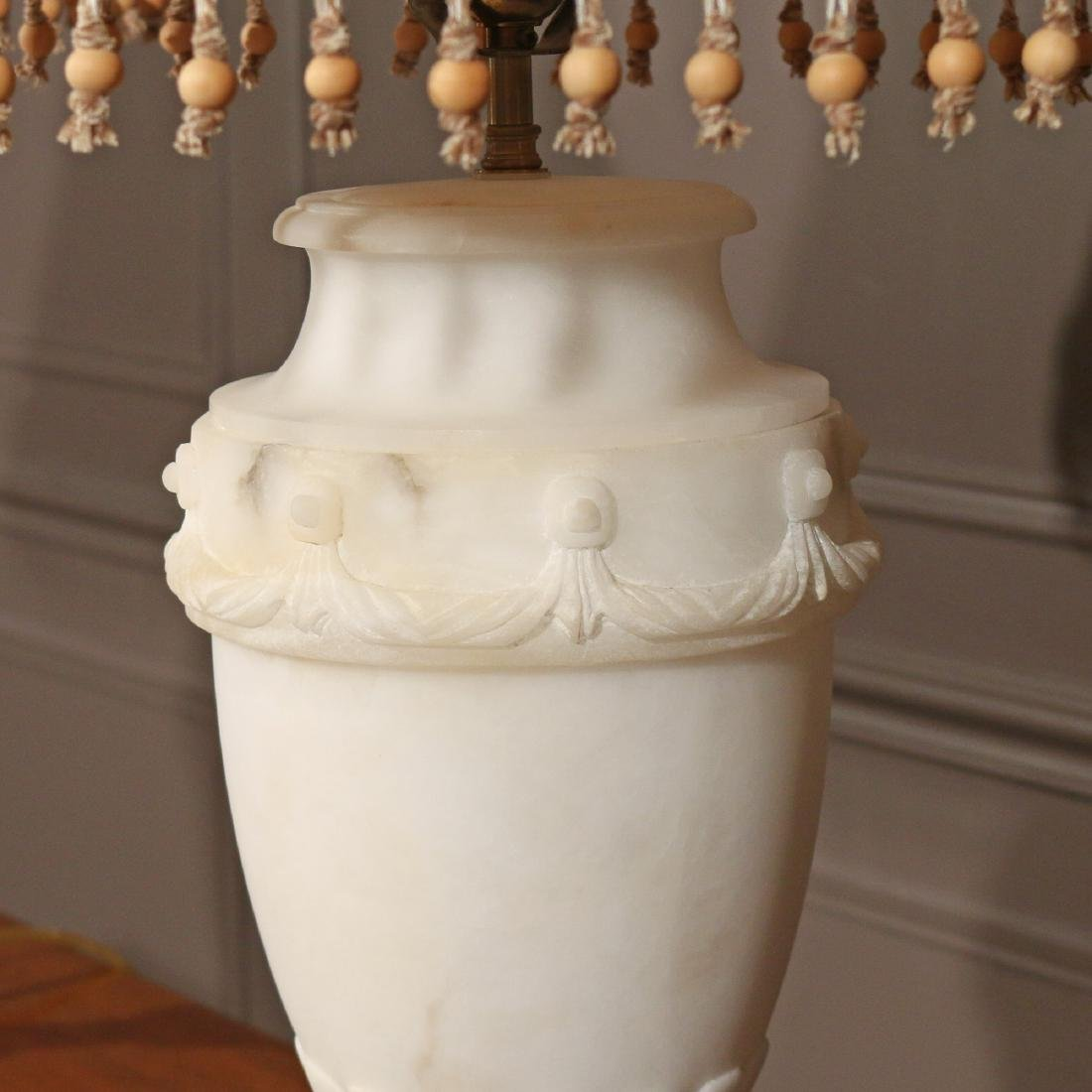 PAIR ALABASTER TABLE LAMPS - 2