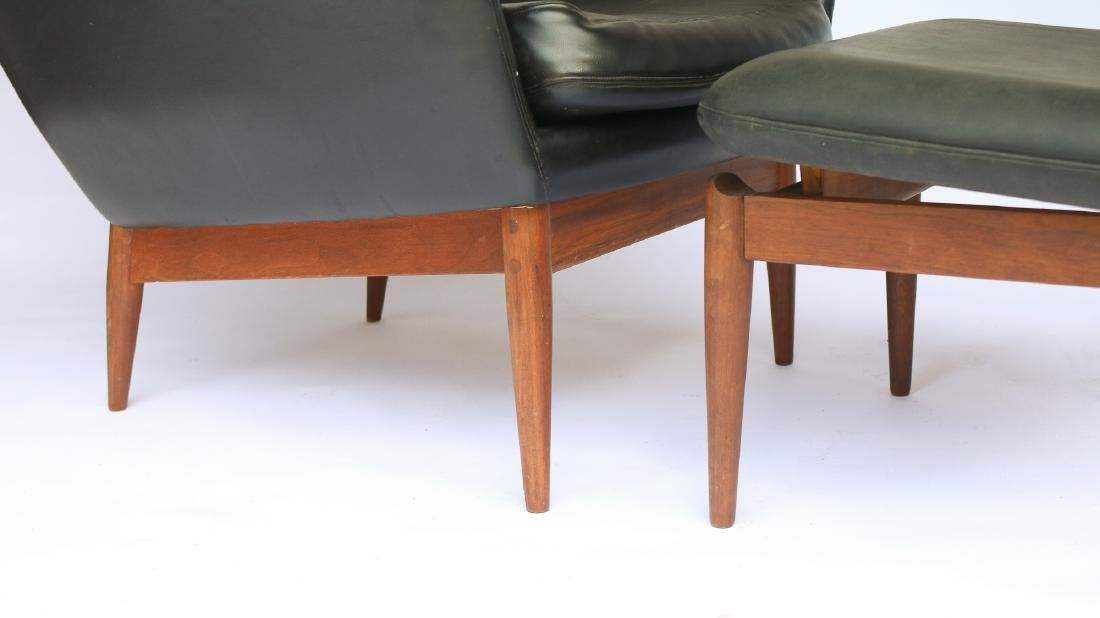 NORWEGIAN WALNUT LOUNGE CHAIR & OTTOMAN - 3