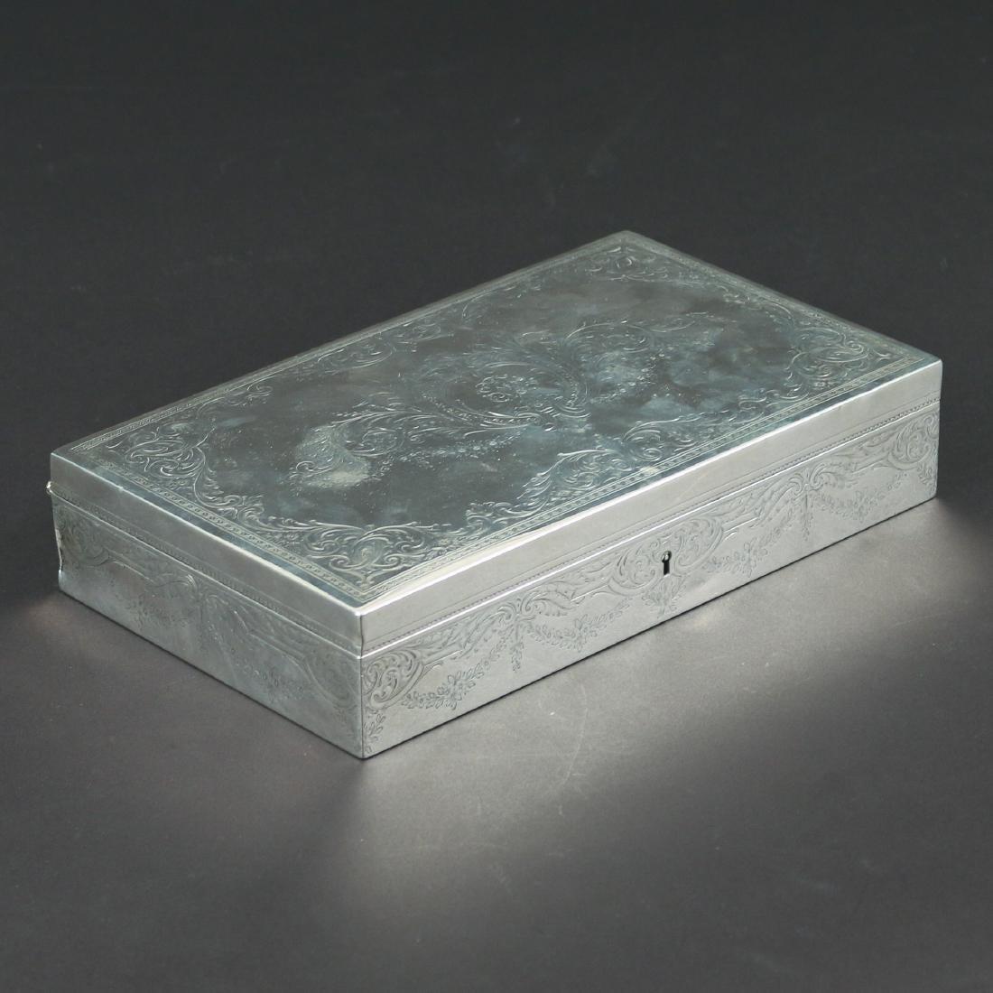HOWARD & CO. STERLING SILVER JEWELRY BOX