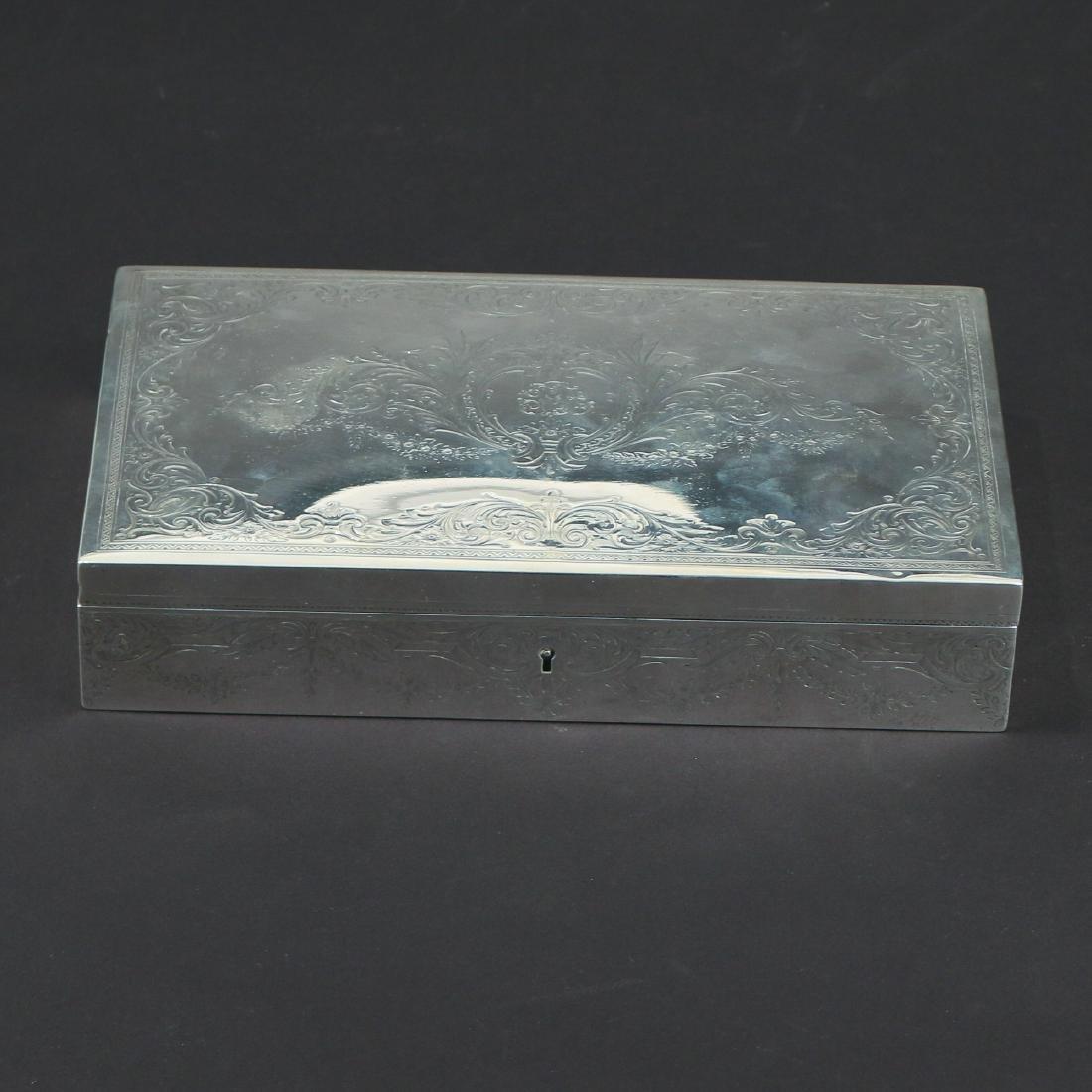 HOWARD & CO. STERLING SILVER JEWELRY BOX - 2