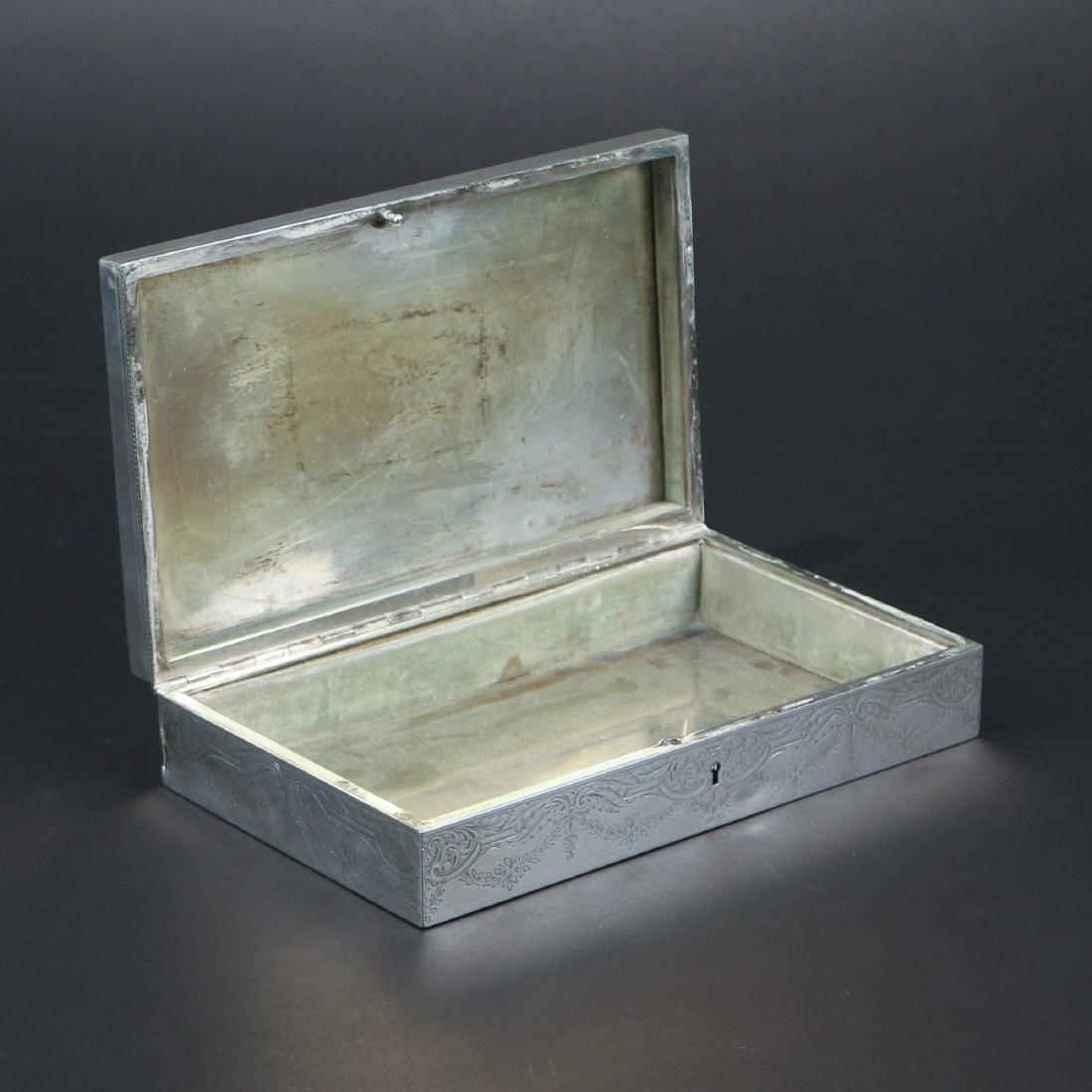 HOWARD & CO. STERLING SILVER JEWELRY BOX - 3