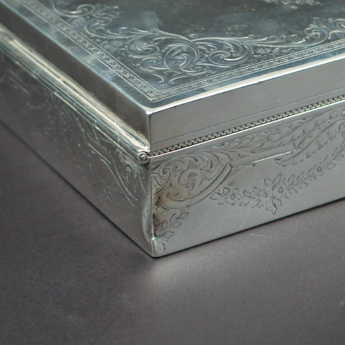 HOWARD & CO. STERLING SILVER JEWELRY BOX - 5