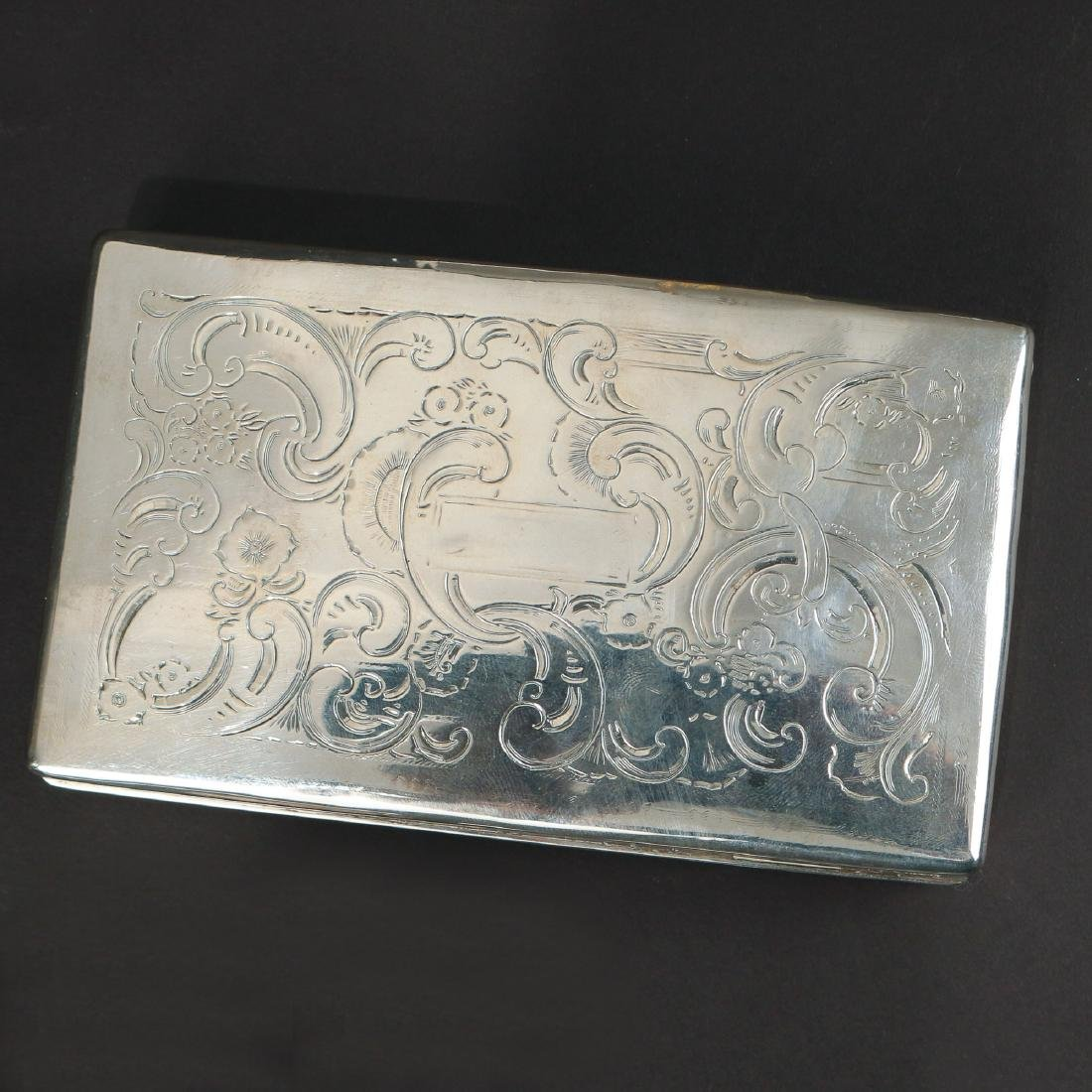 (7pc) MISC. SILVER BOXES & FLASK - 2