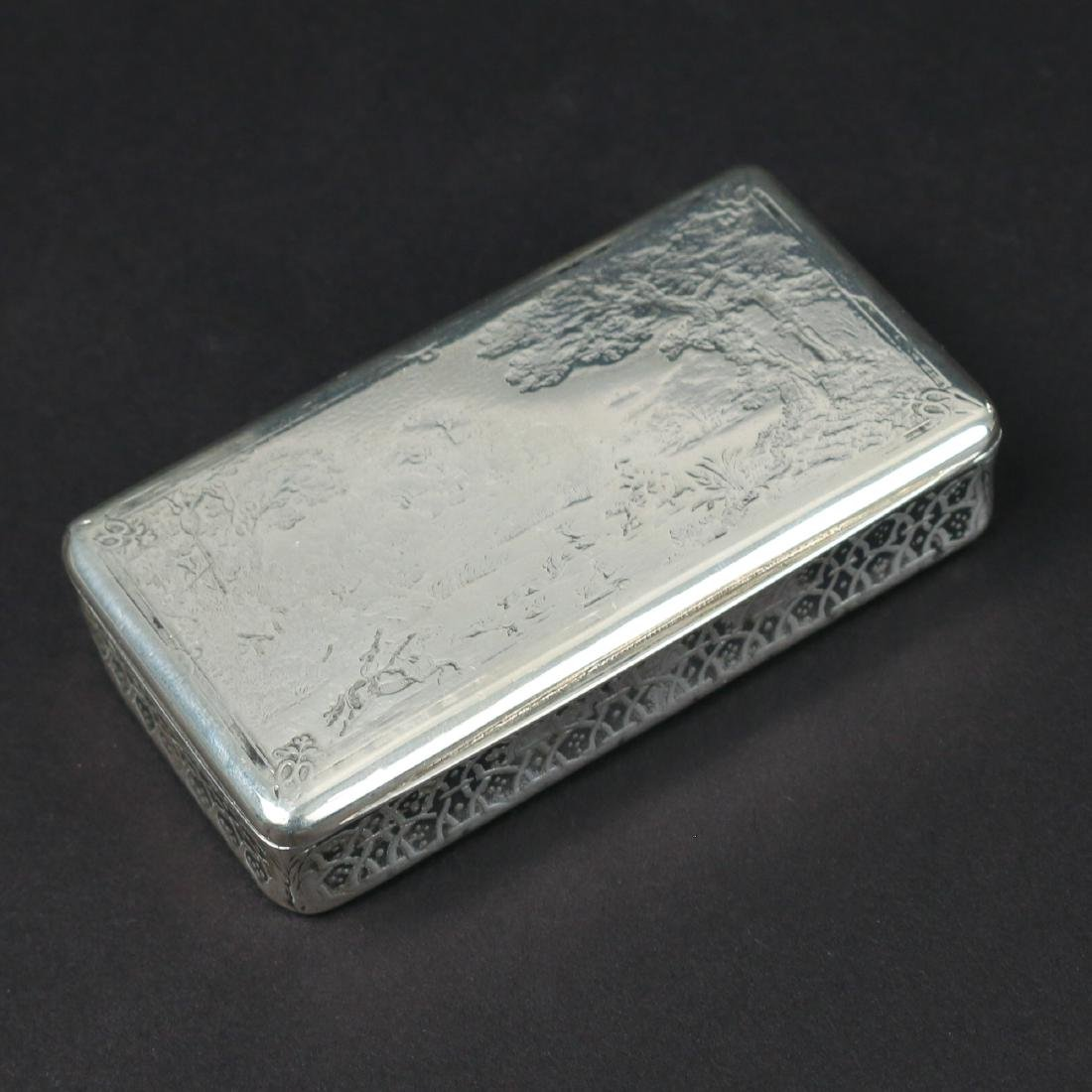(7pc) MISC. SILVER BOXES & FLASK - 6
