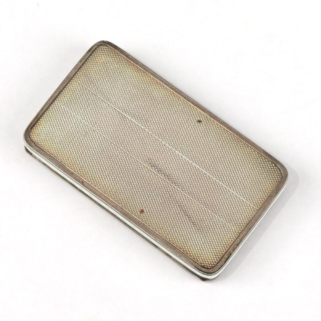 ANTIQUE ENAMEL SNUFF / PIN BOX - 4