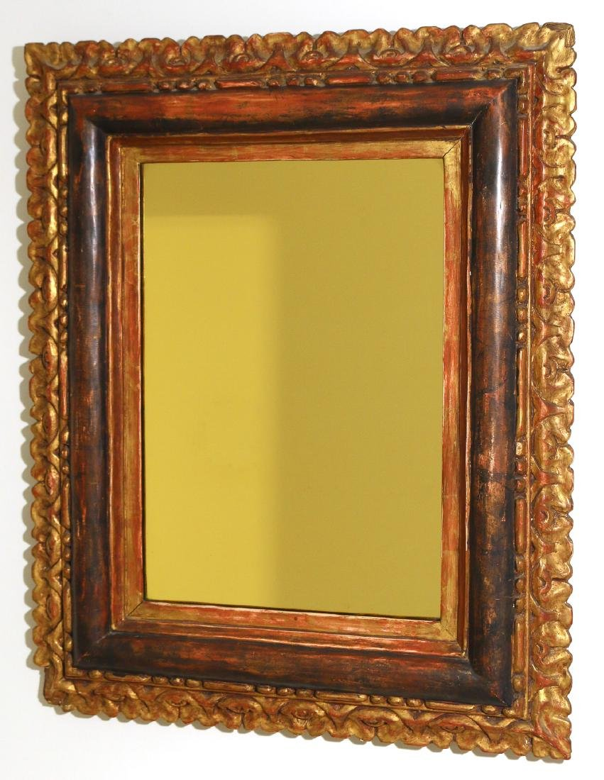 ANTIQUE GILT CARVED WALL MIRROR