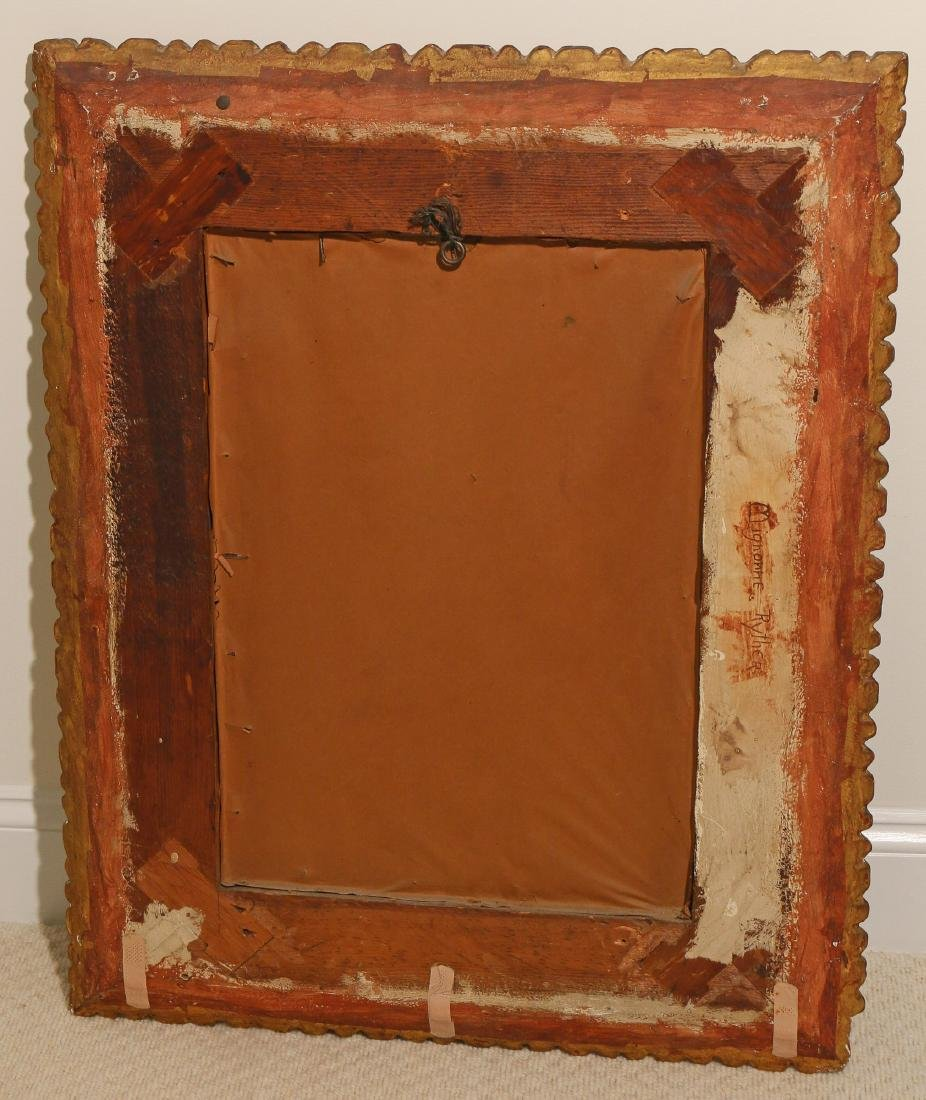 ANTIQUE GILT CARVED WALL MIRROR - 3