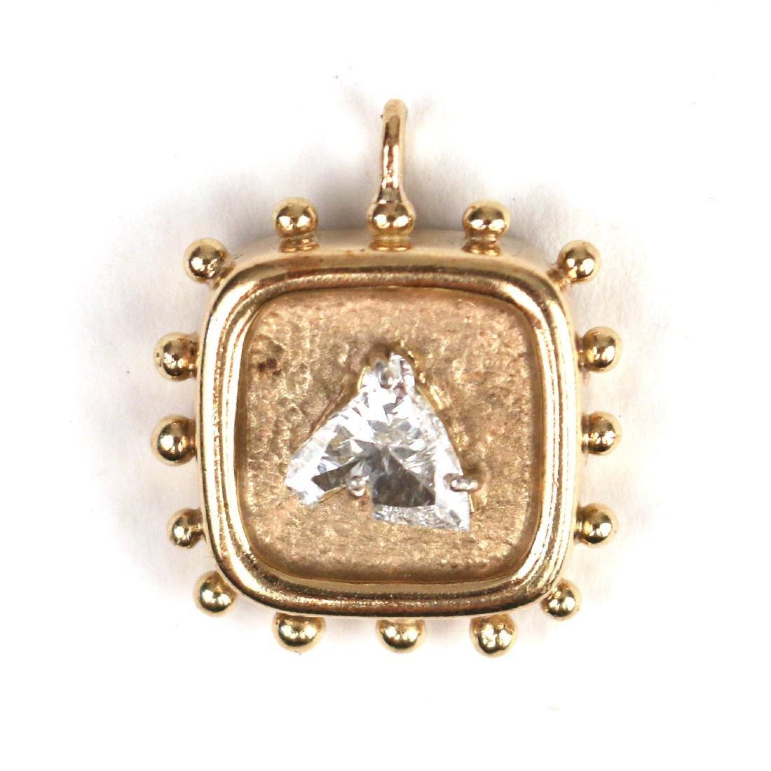 UNUSUAL HORSEHEAD DIAMOND PENDANT