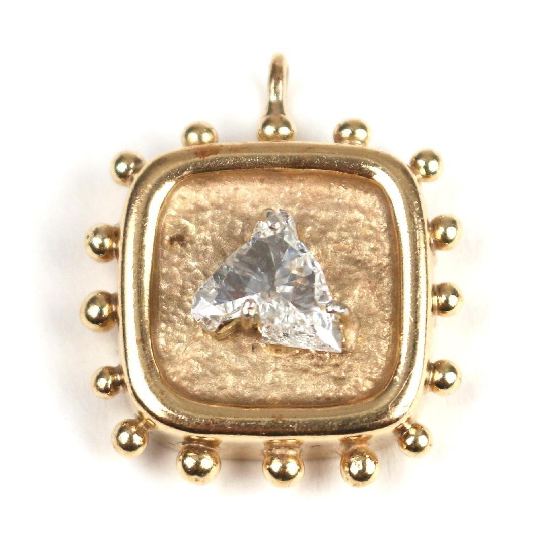 UNUSUAL HORSEHEAD DIAMOND PENDANT - 2