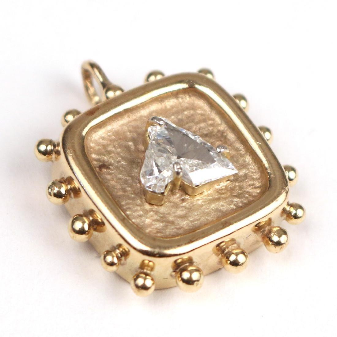 UNUSUAL HORSEHEAD DIAMOND PENDANT - 3