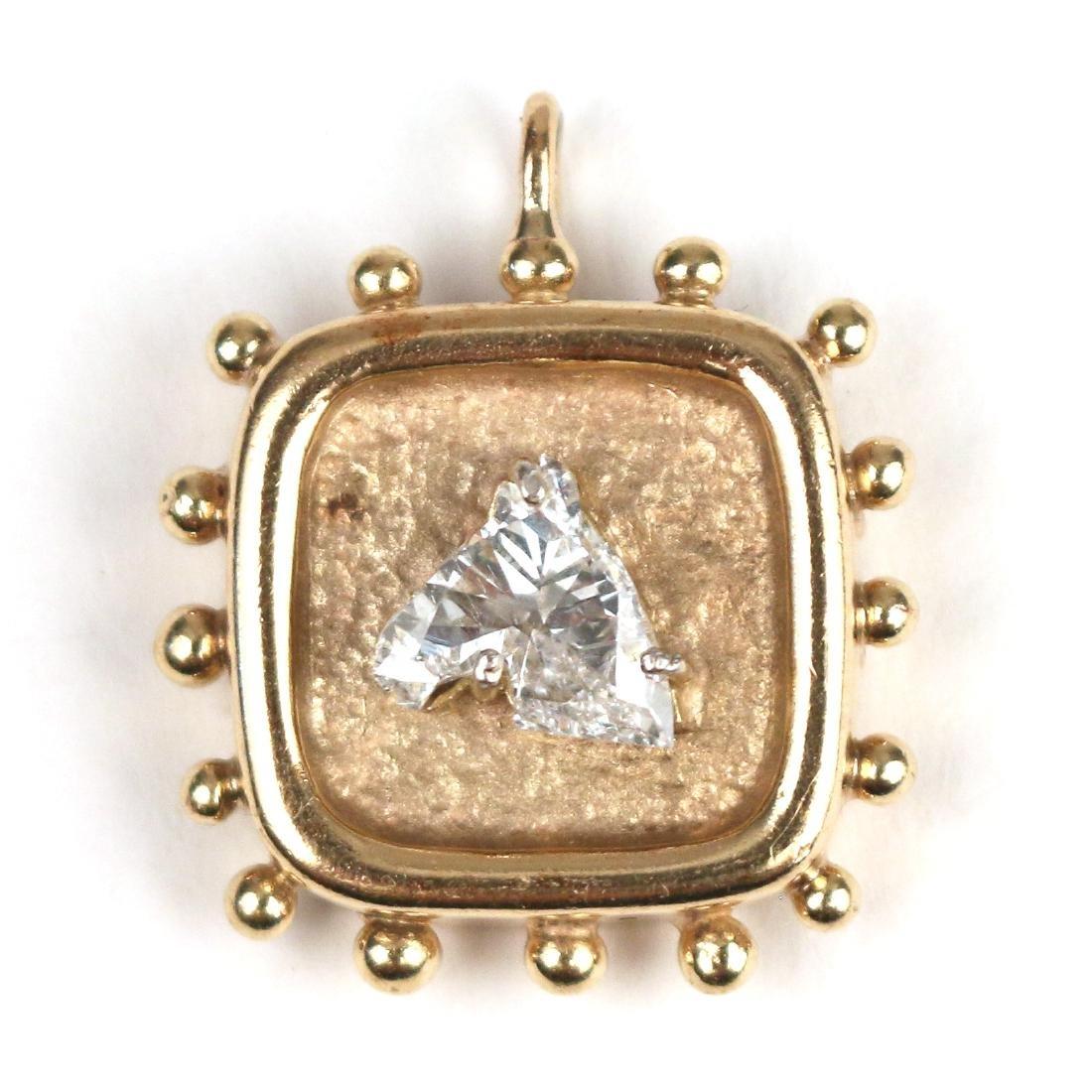 UNUSUAL HORSEHEAD DIAMOND PENDANT - 4