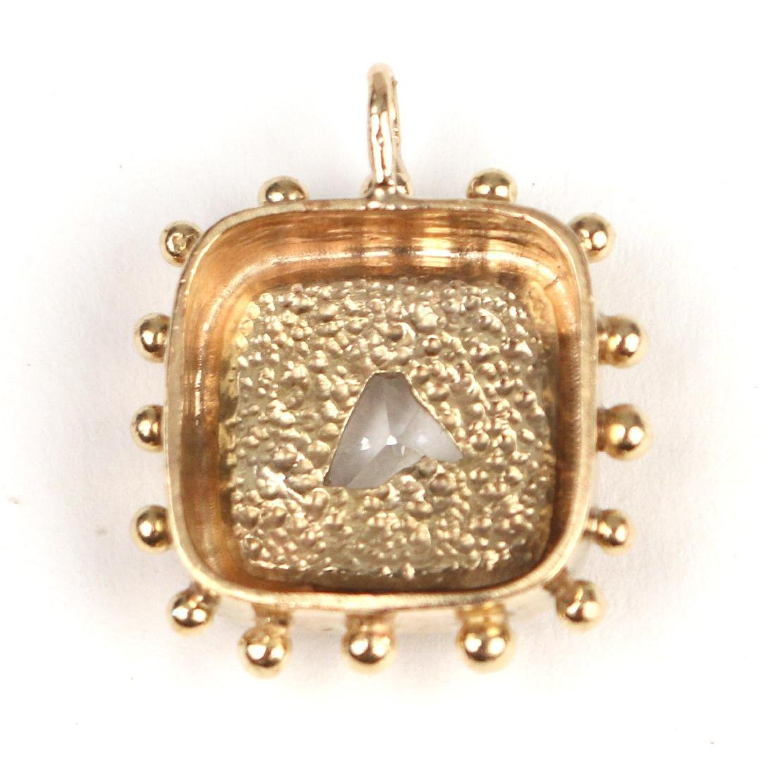 UNUSUAL HORSEHEAD DIAMOND PENDANT - 5