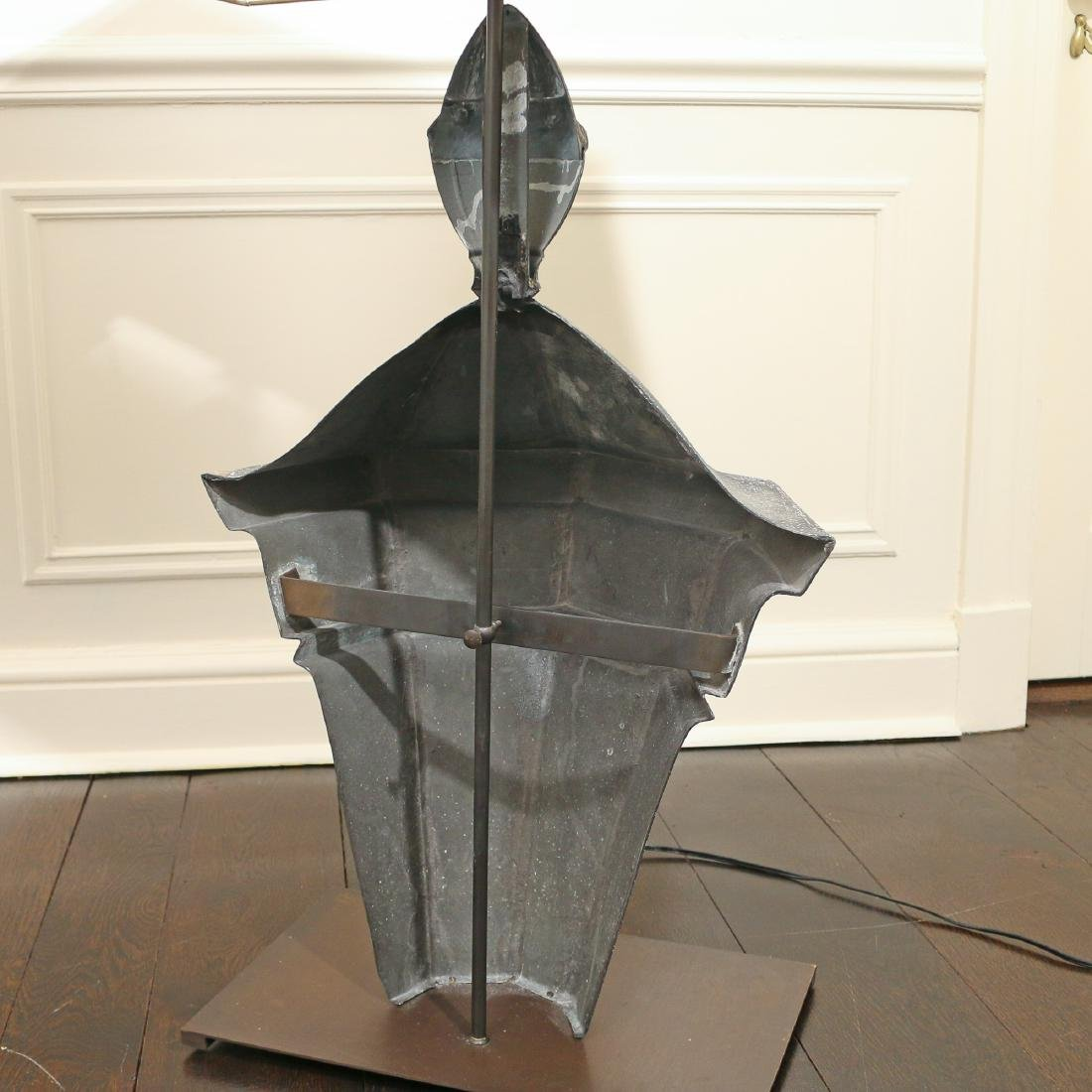 PAIR SPLIT TIN LANTERN TABLE LAMPS - 3