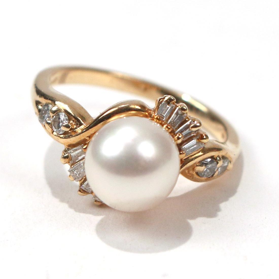 MAUI DIVER'S PEARL & DIAMOND RING