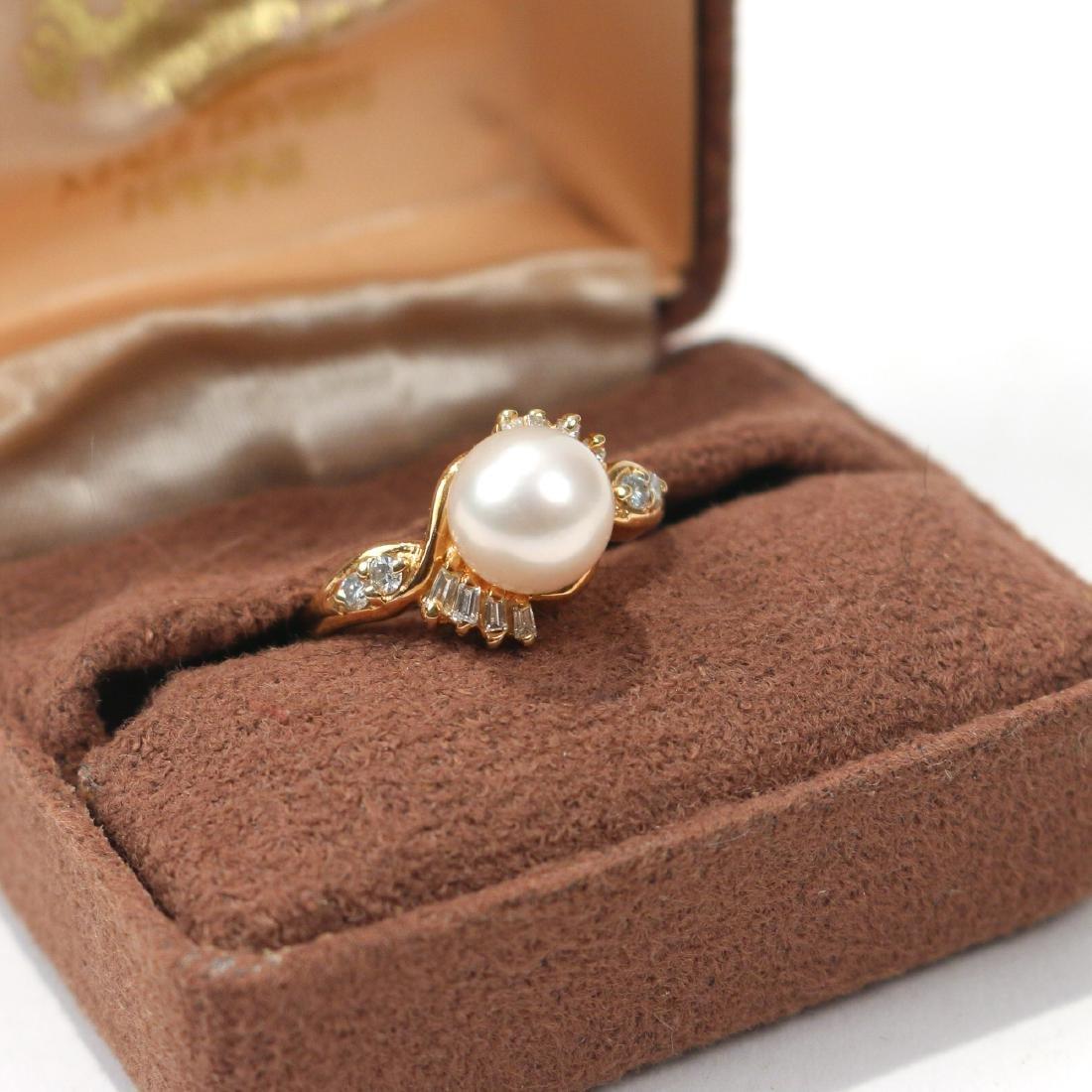 MAUI DIVER'S PEARL & DIAMOND RING - 3