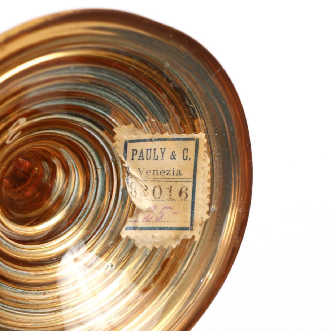 (4pc) VENETIAN GILT ENAMELED GLASS SET - 5