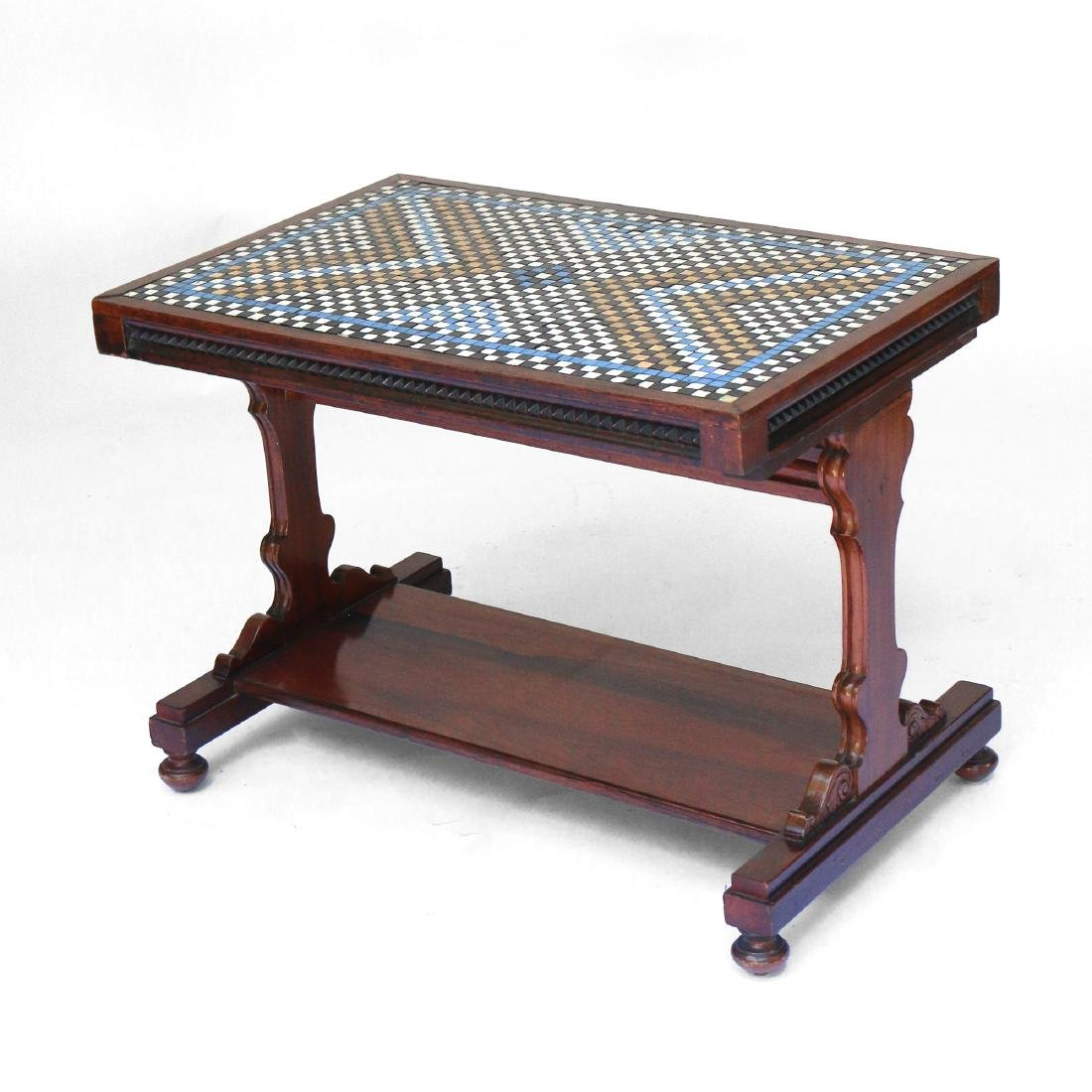 ENGLISH REGENCY ROSEWOOD COFFEE TABLE