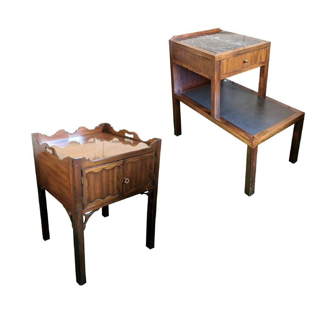 (2pc) 20th CENTURY BEDSIDE TABLES