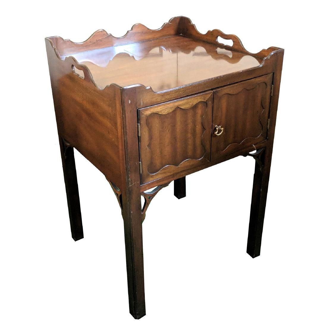 (2pc) 20th CENTURY BEDSIDE TABLES - 2