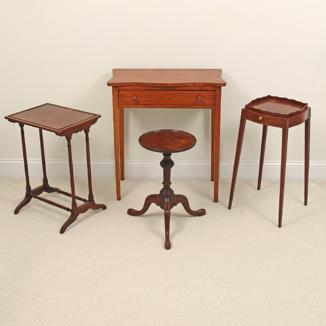 (4pc) MISC. SIDE TABLES