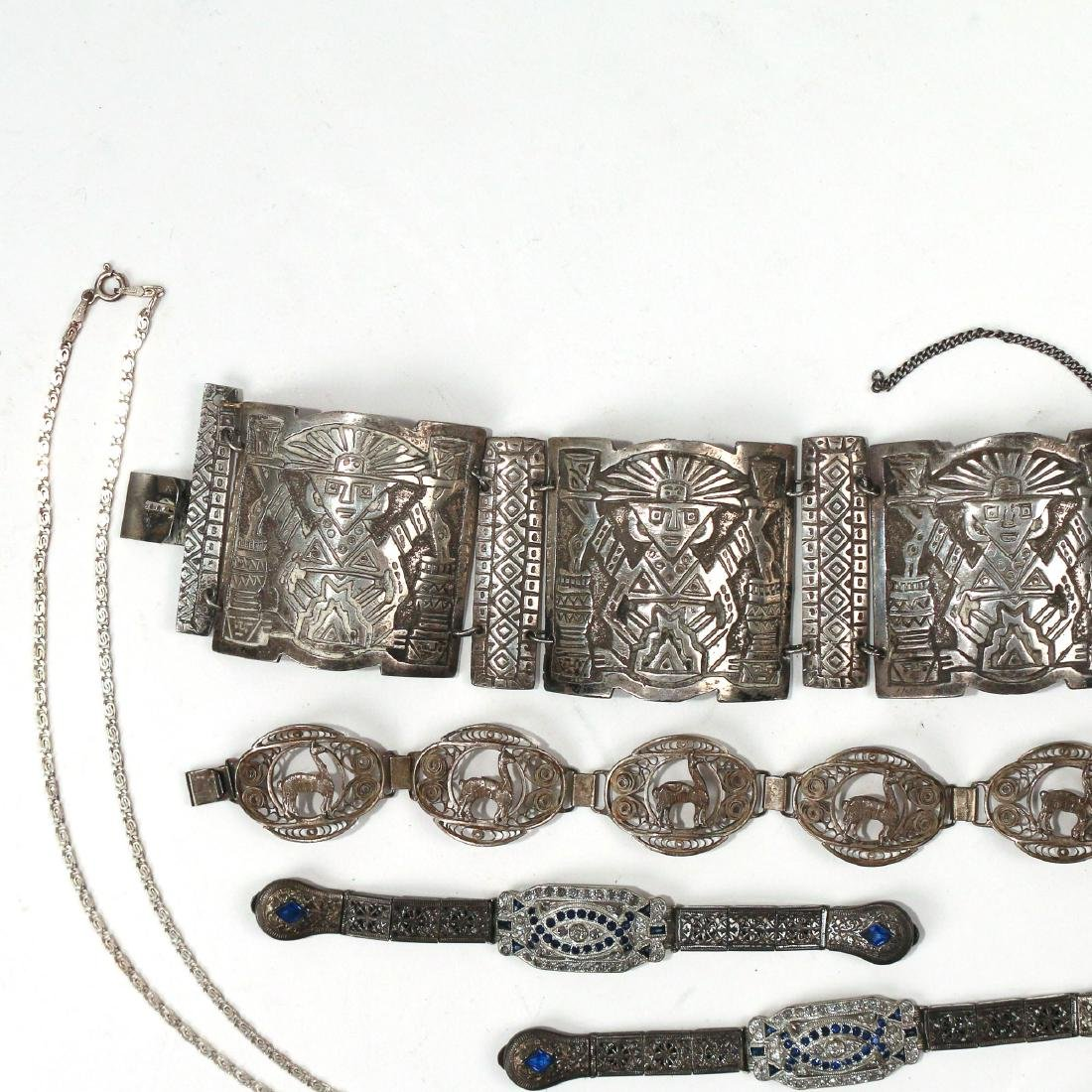 (5pc) MISC. SILVER & OTHER JEWELRY - 3