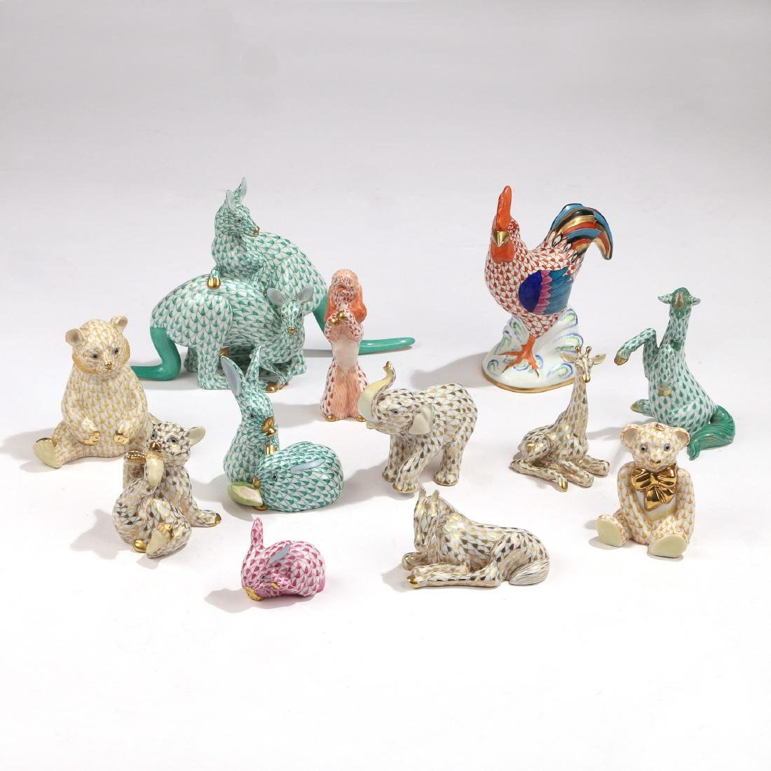 (12pc) HEREND LACE FIGURINES