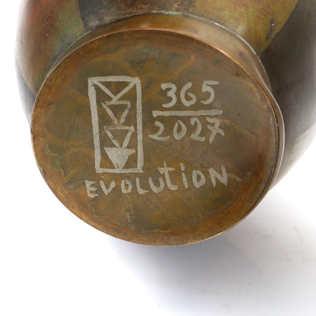(3pc) METAL VASES - 2