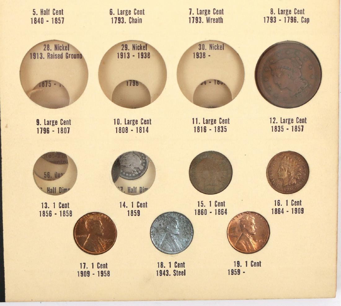 """(5pc) COINAGE """"LIBRARY OF COINS"""" PARTIALLY FILLED - 2"""