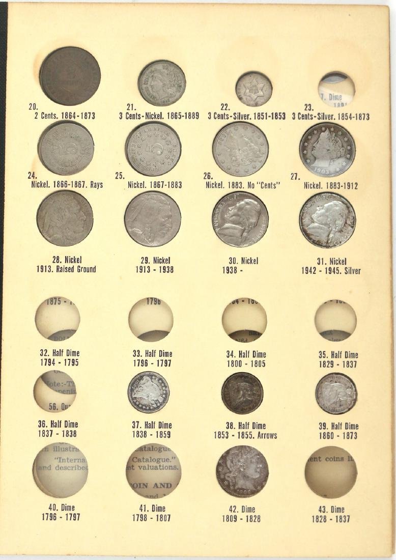 """(5pc) COINAGE """"LIBRARY OF COINS"""" PARTIALLY FILLED - 3"""