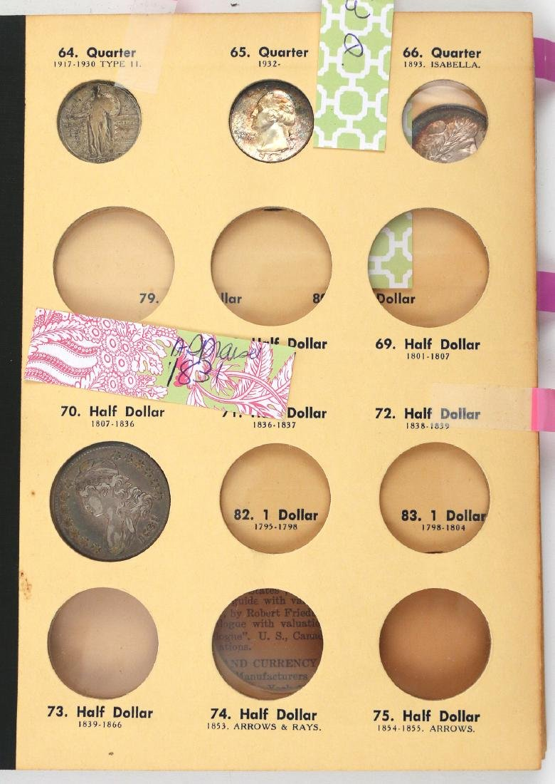 """(5pc) COINAGE """"LIBRARY OF COINS"""" PARTIALLY FILLED - 4"""