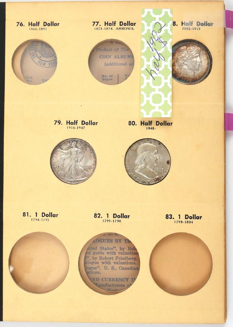 """(5pc) COINAGE """"LIBRARY OF COINS"""" PARTIALLY FILLED - 5"""