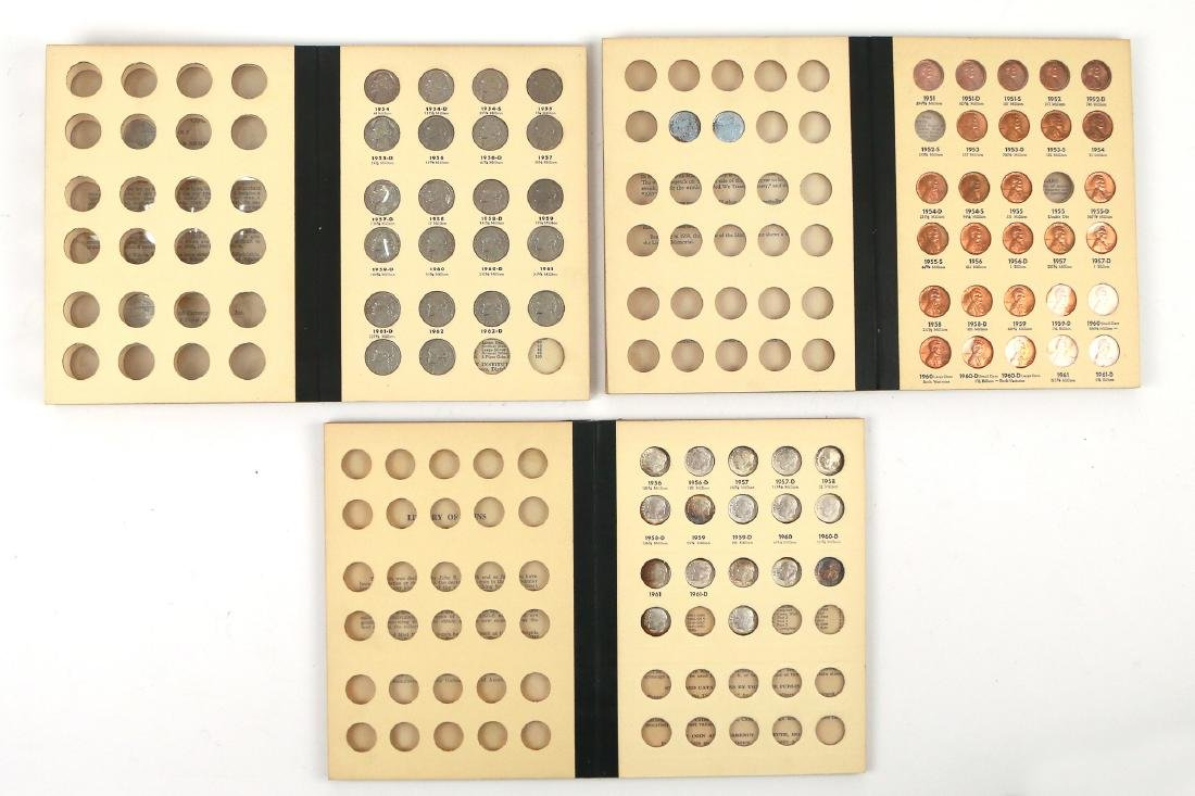 """(5pc) COINAGE """"LIBRARY OF COINS"""" PARTIALLY FILLED - 7"""