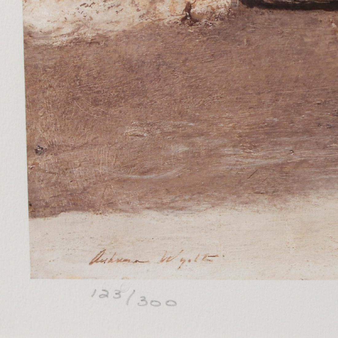ANDREW WYETH SIGNED PRINT - 3