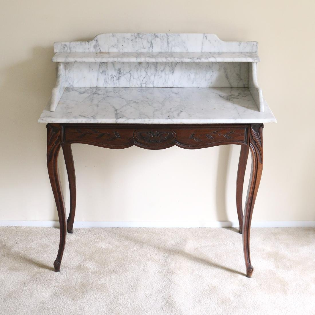 ANTIQUE MARBLE-TOP WASH STAND