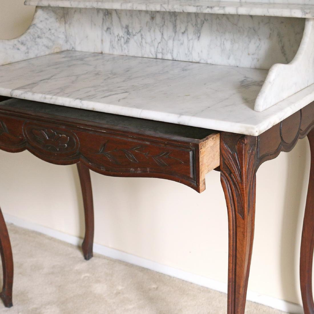 ANTIQUE MARBLE-TOP WASH STAND - 2