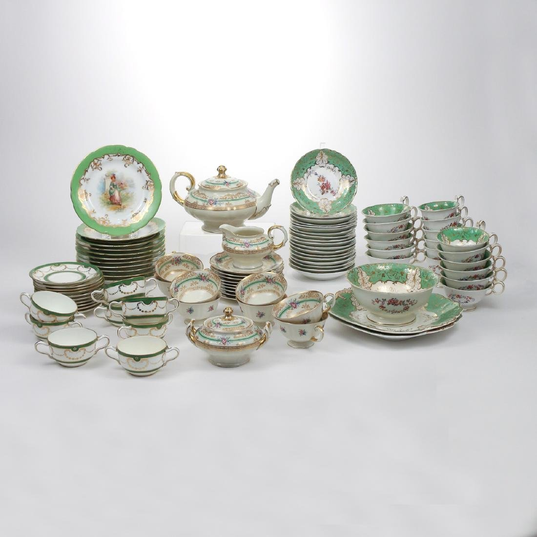 (88pc) FOUR CONTINENTAL PARTIAL CHINA SETS