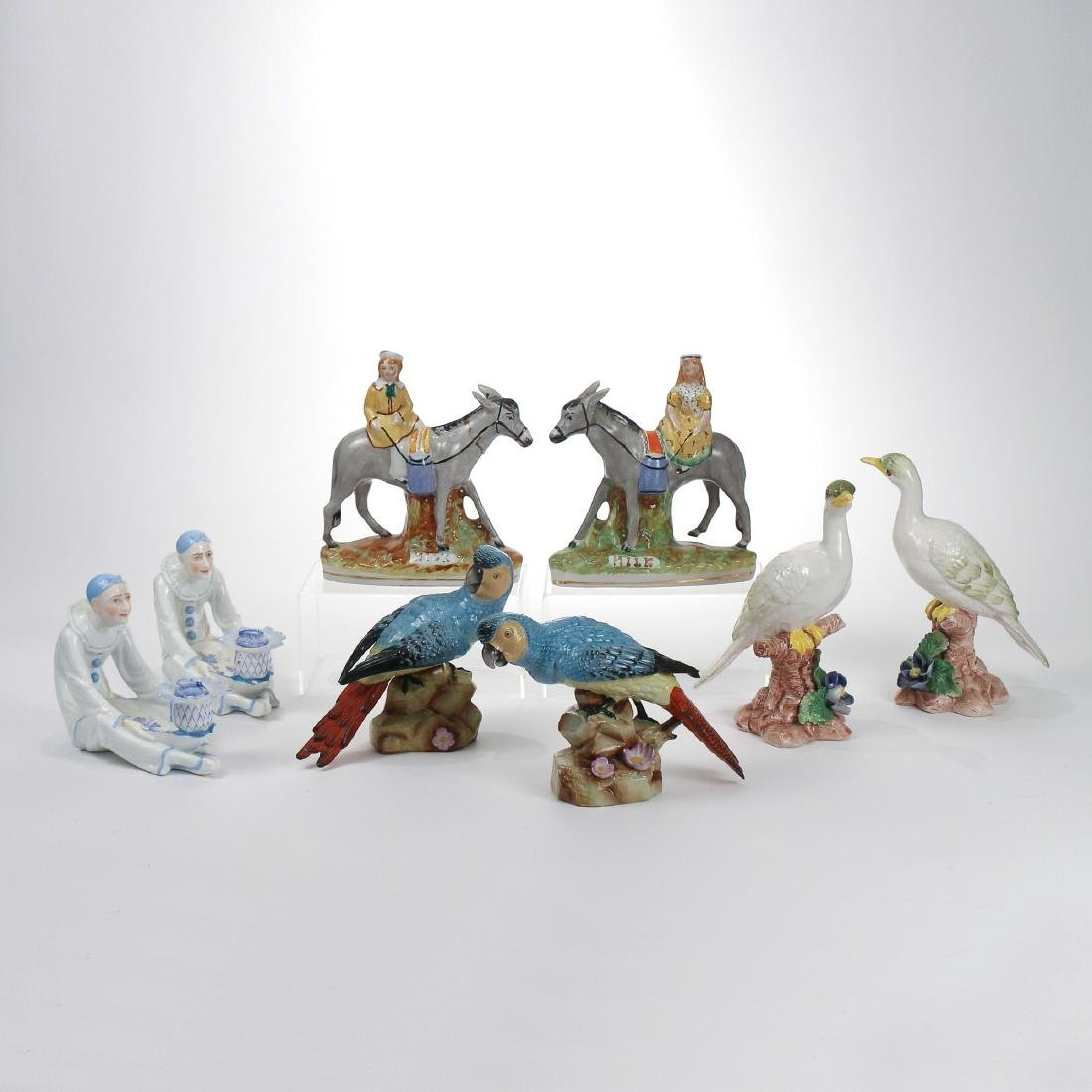 (8pc) MISC. PORCELAIN FIGURINES