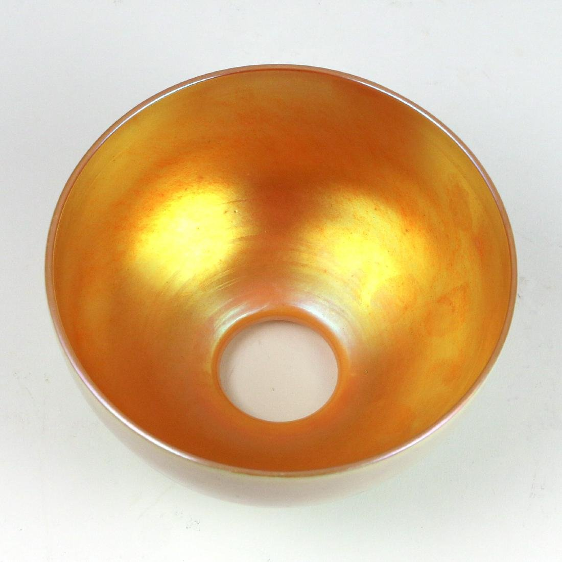 (2pc) STEUBEN SHADE & HAND-BLOWN GLASS PITCHER - 5
