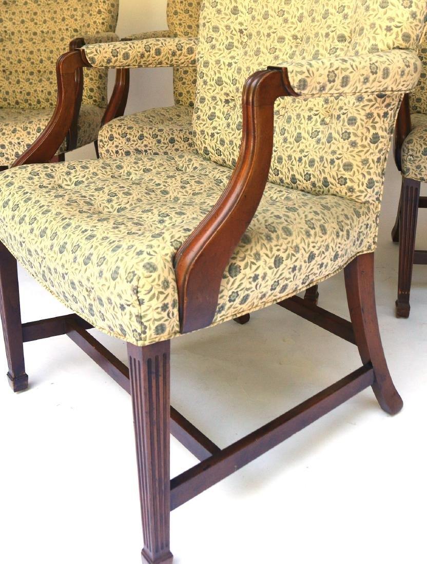 (4pc) KITTINGER CHIPPENDALE-STYLE OPEN ARMCHAIRS - 2