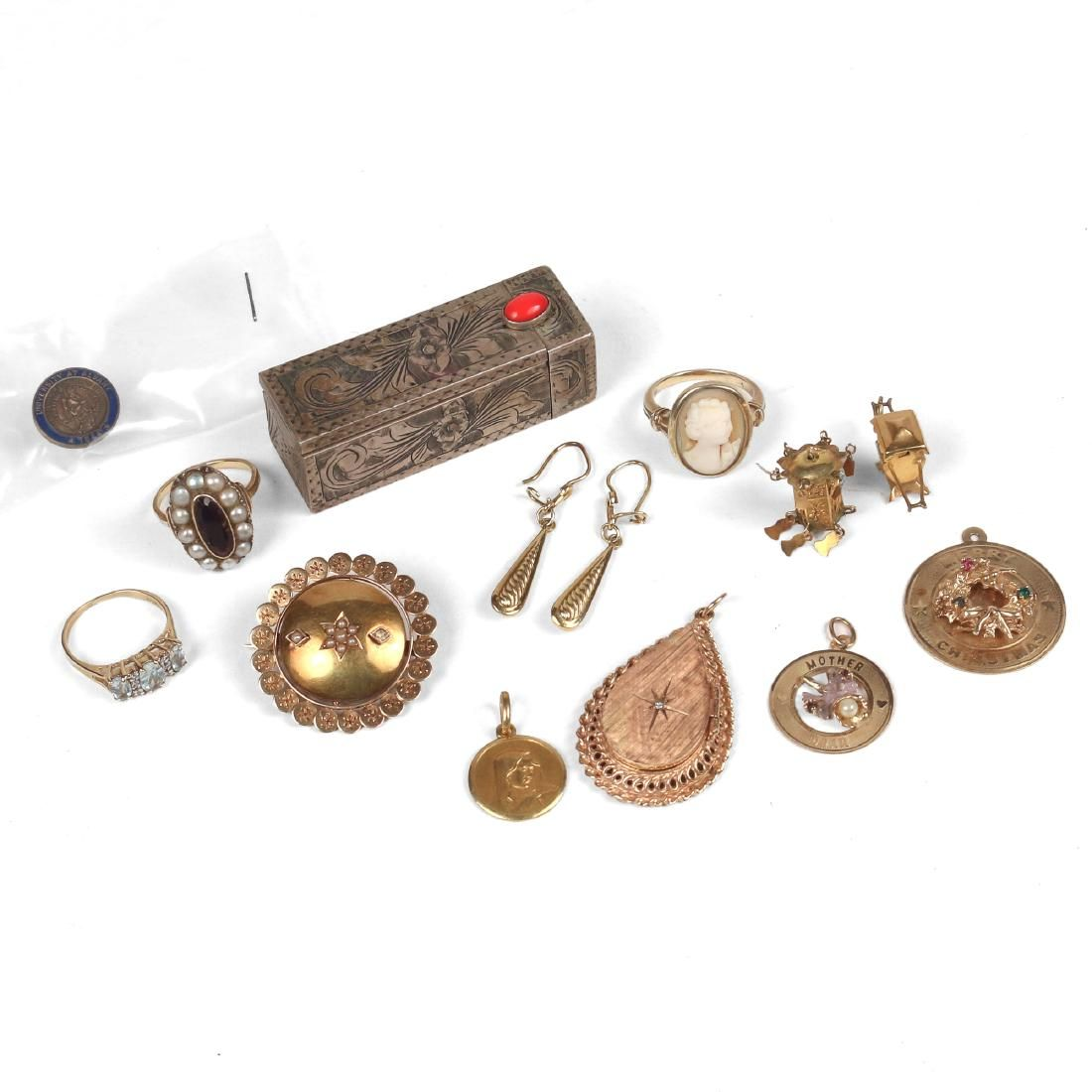 MISC. GOLD JEWELRY & OTHER