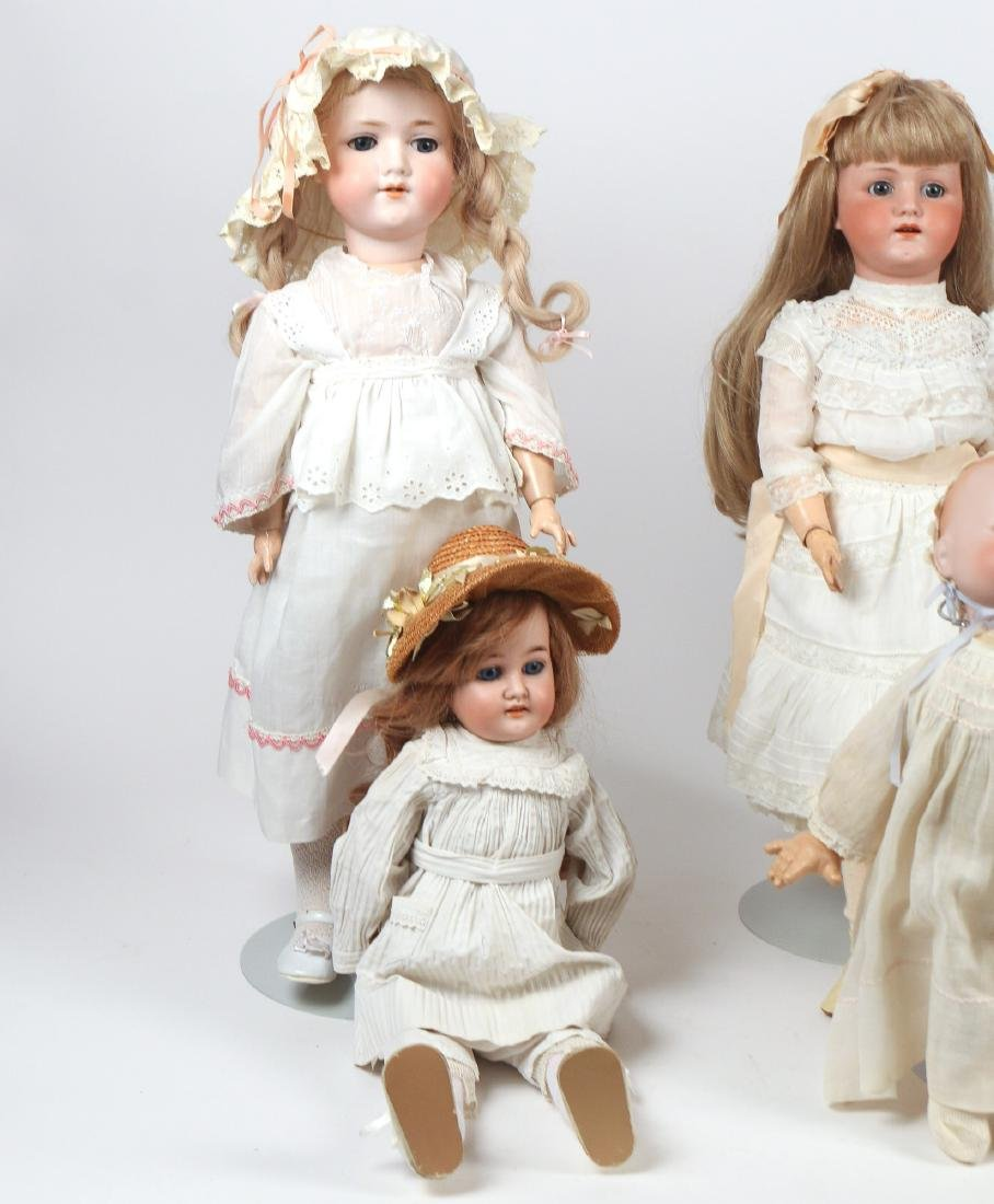 (6pc) BISQUE HEAD & OTHER DOLLS - 2