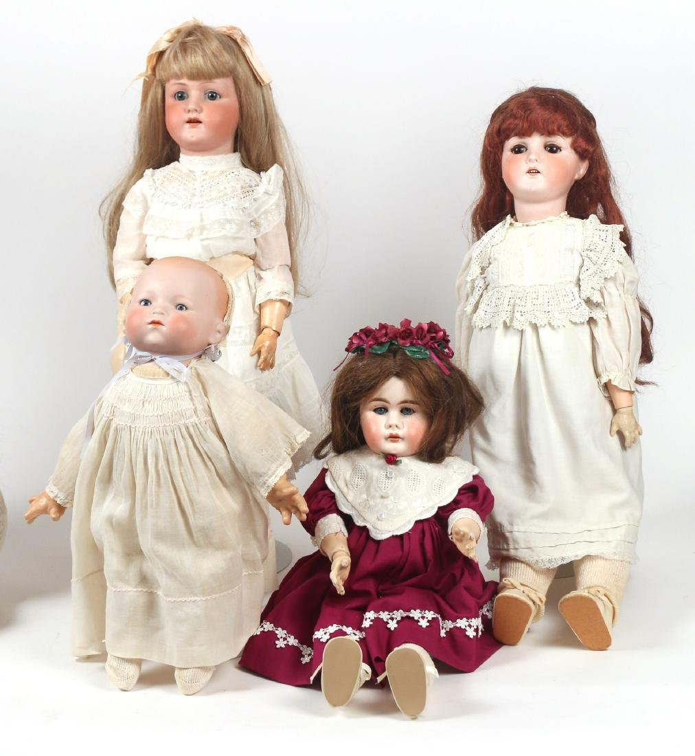 (6pc) BISQUE HEAD & OTHER DOLLS - 3