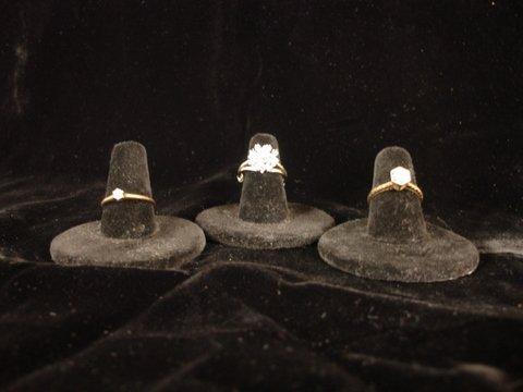 11: GRP OF 3 RINGS EA. W/SM DIAMONDS: 1-14KYG OLD SET
