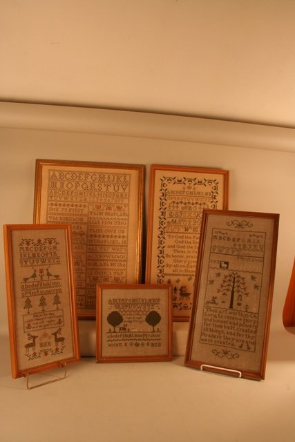 """16: GROUP OF 7 CONTEMPORARY SAMPLERS, 9 1/2"""" X 9 1/2"""""""