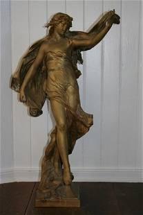 258: EUGENE MARIOTON (1854- CA 1925) GILT BRONZE, STY