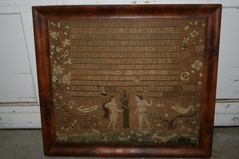 283: NEEDLEWORK SAMPLER, WORKED BY POLLY LORD, IPSWICH